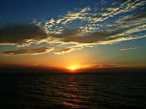 Sunset Oman coast Stock Photography