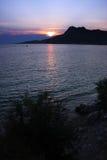 The sunset in Omis, Croatia Stock Image