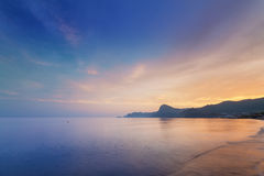 Free Sunset On A Background Of Mountains Royalty Free Stock Photography - 72925307