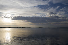 Sunset On A Northern Canadian Lake Stock Image