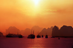 Free Sunset On Bay Royalty Free Stock Photography - 12947807