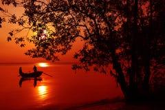 Sunset On Beach Stock Photo
