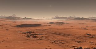 Free Sunset On Mars. Martian Landscape Royalty Free Stock Photography - 100369247