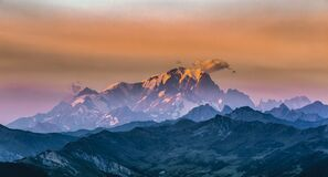 Free Sunset On Mont Blanc Royalty Free Stock Photography - 194500527