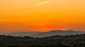 Free Sunset On Mountain Royalty Free Stock Photography - 28097257