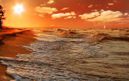 Free Sunset On The Beach Stock Images - 10910864