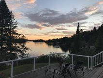 Free Sunset On The Deck, Lake Of The Woods, Kenora, Ontario, Canada Stock Photography - 105427742