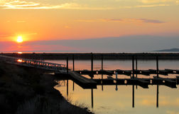 Free Sunset On The Great Salt Lake Stock Photo - 48522450