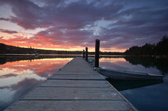 Sunset On The Harbor Stock Photos