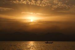 Free Sunset On The Lake Royalty Free Stock Photos - 3925948