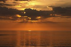 Sunset On The Sea Stock Photography