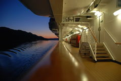 Sunset onboard cruise ship Stock Photos