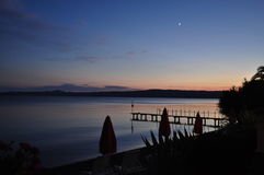 Sunset ont the Bolsena Lake, Italy Stock Photos