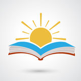Sunset open book Royalty Free Stock Image