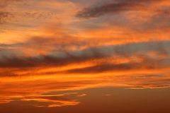 Sunset, Orange, Dusk, Sky, Clouds Royalty Free Stock Images