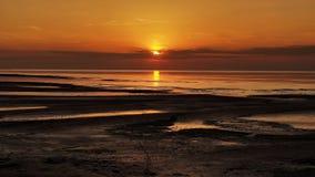 Sunset sunny beach Royalty Free Stock Image