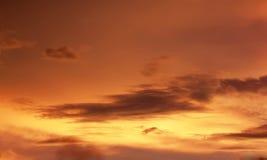 Sunset orange sky background Stock Photos