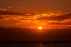 Sunset orange sky background at evening Royalty Free Stock Photo