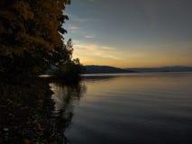 Orava Lake. Sunset in Orava. Location: Orava Dam stock images