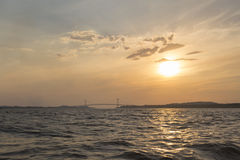 Sunset on the Orinoco River, Ciudad Bolivar, Venezuela Royalty Free Stock Image