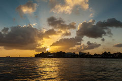 Sunset at Otrobanda Royalty Free Stock Photos