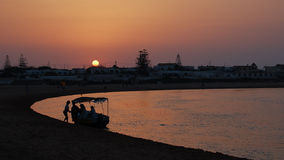 Sunset in Oulidia Stock Photography
