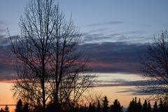 Sunset Overlooking Anchorage, Alaska Royalty Free Stock Photos