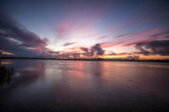 Sunset. At  Our Ladies  Island, Wexford, Ireland Royalty Free Stock Photo
