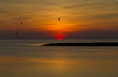 Sunset on Outer Banks Stock Images