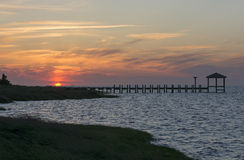 Sunset on the Outer Banks Royalty Free Stock Image