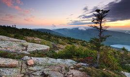 Sunset Ov er Acadia National Park, Royalty Free Stock Photo