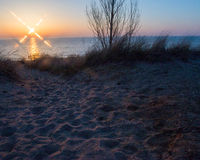 Sunset at Oval Beach Saugatuck Royalty Free Stock Photo