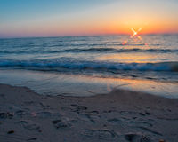 Sunset at Oval Beach Saugatuck Stock Photos