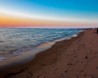Sunset at Oval Beach Saugatuck Royalty Free Stock Image