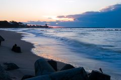 Free Sunset Over A Lighthouse. Dusk Stock Photos - 2022253