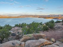 Sunset over Abiquiu Lake in New Mexico. Sunset at Abiquiu Lake in New Mexico near the town of Abiquiu royalty free stock images