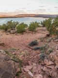 Sunset over Abiquiu Lake in New Mexico. Sunset at Abiquiu Lake in New Mexico near the town of Abiquiu royalty free stock photo