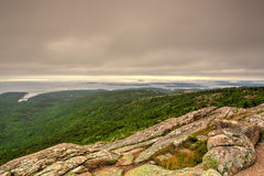Sunset over Acadia national park, from top of Cadillac mountain Royalty Free Stock Photography