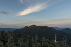 Sunset Over the Adirondack High Peaks Royalty Free Stock Images