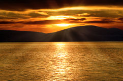 Sunset over Adriatic Sea Royalty Free Stock Image