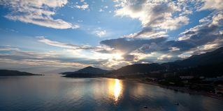 Sunset over Adriatic seaside Stock Photos