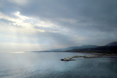 Sunset over the Aegean Sea Royalty Free Stock Photography