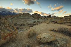 Sunset over Alabama Hills Stock Photography