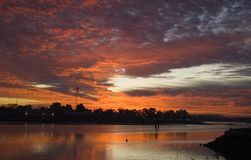 Sunset over Alameda Royalty Free Stock Photo