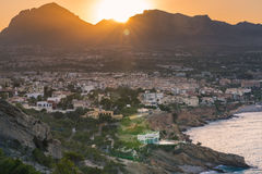 Sunset over Albir in Alicante,Spain Stock Photography