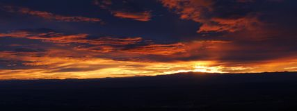 Sunset over Albuquerque Royalty Free Stock Images