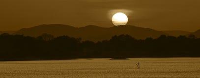 Sunset over Amaya Lake Royalty Free Stock Image