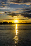 Sunset over the Amazon River Royalty Free Stock Photography
