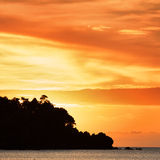 Sunset over Andaman Sea Royalty Free Stock Photos