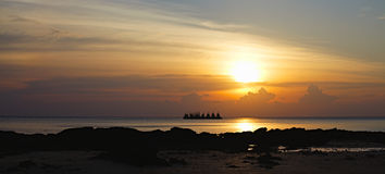 Sunset over Andaman Sea Stock Images